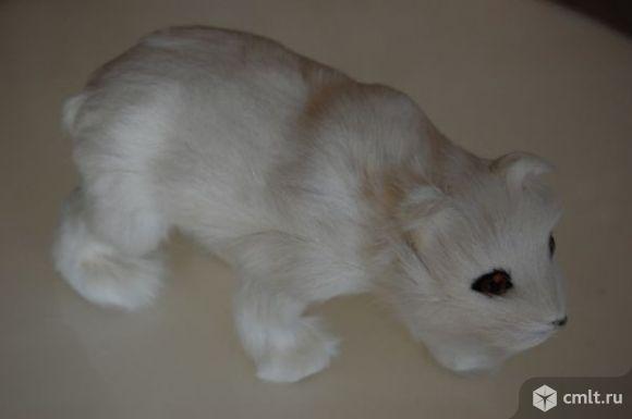 """Сувенир из меха """"Медведь"""" белый 22см"""