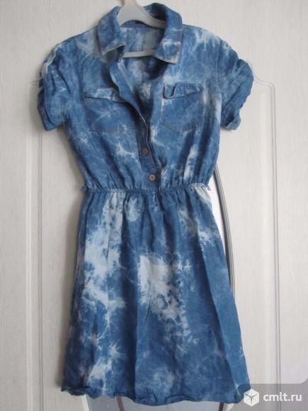 Платье летнее джинс 44