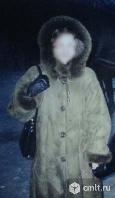 Дубленка женская натуральная с капюшоном. Фото 5.
