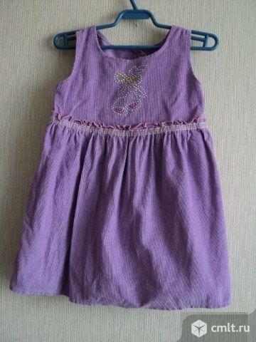 Платье вельветовое. Фото 1.