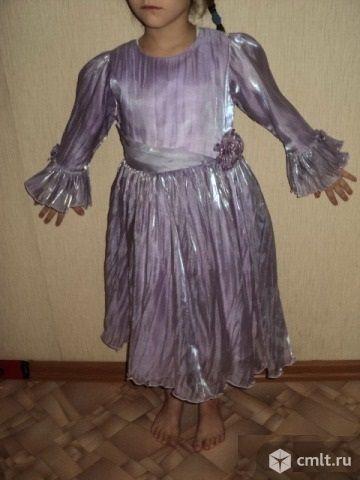 Платье детское с розочкой. Фото 1.