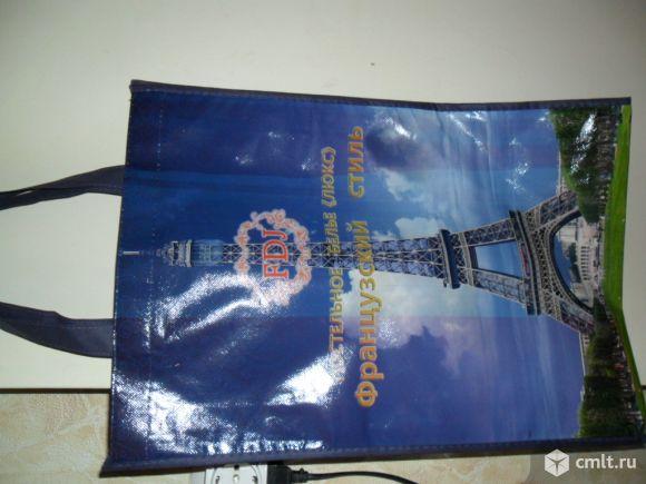 Сумки-пакеты с ручками 33см на 46см,с Эйфелевой башней.