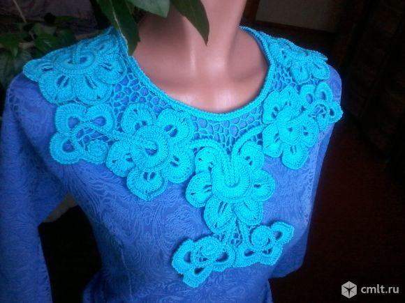 Вязаный воротничок к блузке или платью. Фото 2.