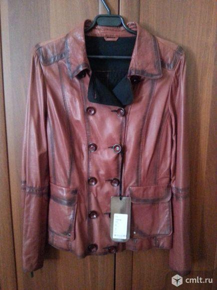 Куртка кожаная новая. Фото 1.