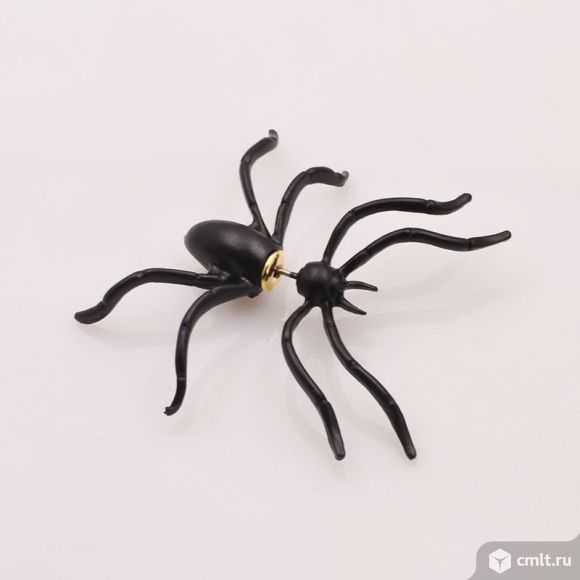 Серьги - пауки. Фото 1.