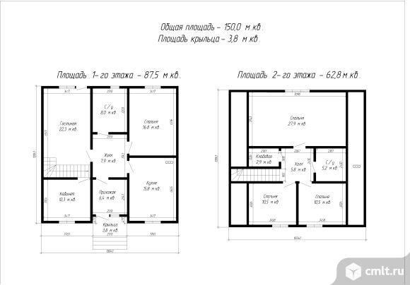 Новый Дом в Александровке (с.Никольское) 150м2 с участком 7.5 сот.