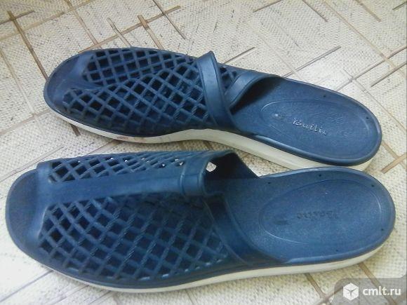 Пляжные шлепанцы-туфли мужские, р.45. Фото 1.