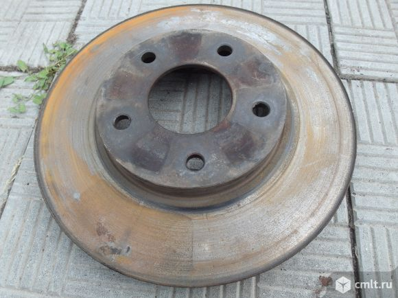 Комплект тормозных дисков оригинал для nissan primera p12. Фото 8.