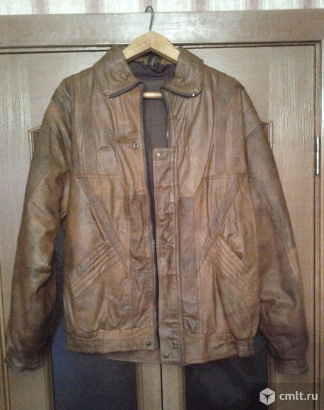 Спортивная кожаная куртка. Фото 1.
