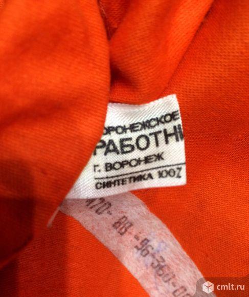 Полушубок оранжевый. Фото 5.