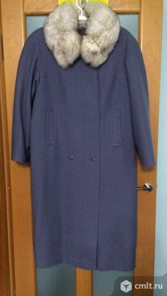 Пальто зимнее воротник песец. Фото 1.