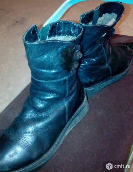 Продам сапоги зимние кожаные, мех натуральный фирма Антилопа. Как новые, ножка быстро выросла практически не носила.
