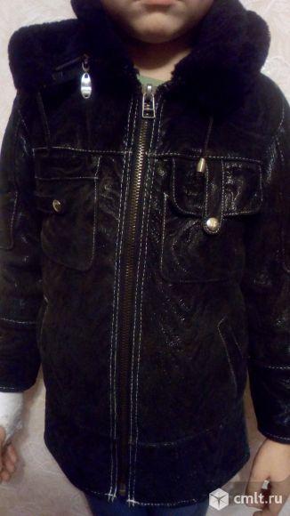 Куртка детская кожаная