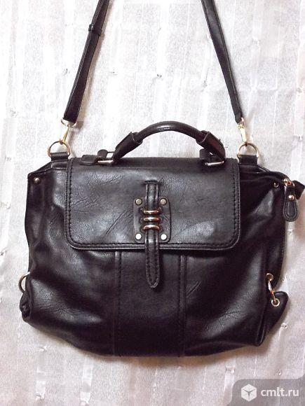 Стильная новая кожаная сумка. Фото 1.