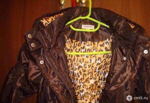 Пальто PlayToday теплая осень р-р 104(+ 10см). Фото 1.