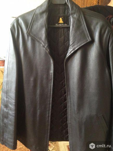 Продам кожаную мужскую куртку. Фото 1.