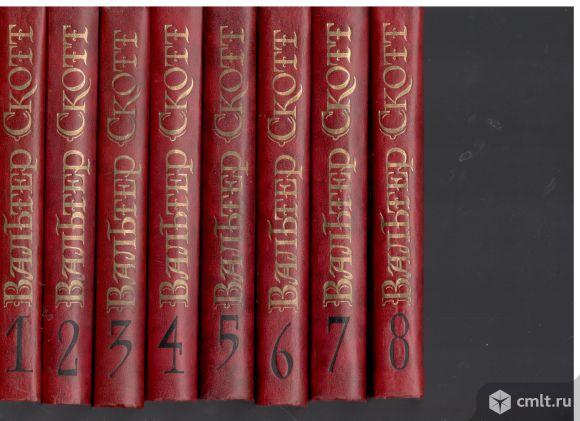 """Вальтер Скотт. Собрание сочинений в 8 томах( Библиотека """"Огонек""""). Фото 1."""