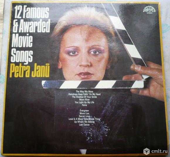 """Грампластинка (винил). Гигант [12"""" LP]. Petra Janu. 12 Famous & Awarded Movie Songs. Czechoslovakia.. Фото 1."""