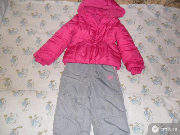 Куртка тёплая 104см Глоpия Джинс+ бонус в даp.. Фото 1.
