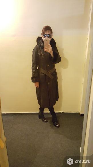 Пальто (пихора) с двухсторонним капюшоном из норки