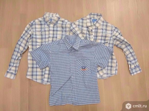 Рубашки р-р 122-134. Фото 1.