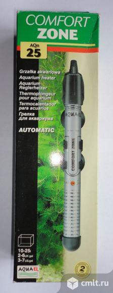 Стеклянный аквариумный обогреватель с термостатом COMFORT ZONE  25 Вт на 10-25 литров. Новый.. Фото 1.