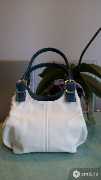 Новая белая сумочка из экокожи. Фото 1.