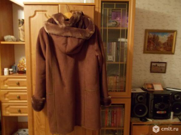 Дубленка женская цвет коричневый размер 52