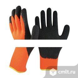 Перчатки утепленные с латексным. Фото 1.