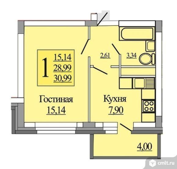 1-комнатная квартира. ЖК Южный Новая Усмань Полевая 44а (2очередь). Рассрочка платежа от застройщика на 1,5 года (без участия банка).