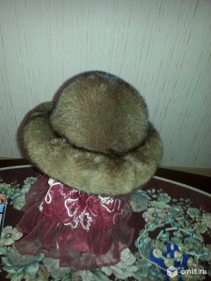 Шляпа женская из норки. Фото 1.