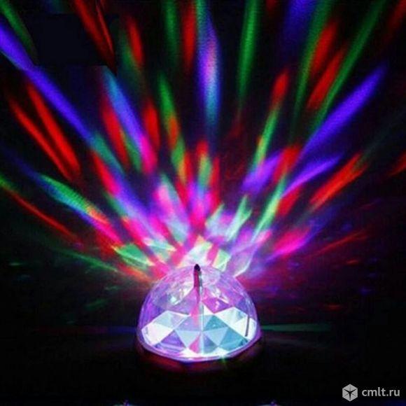 Диско лампа разноцветная для праздничного настроения