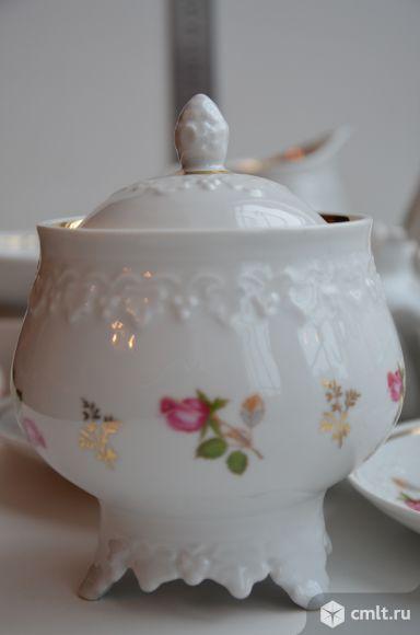"""Сервиз чайный 22 предм. """"Венок роз"""". Дулево."""