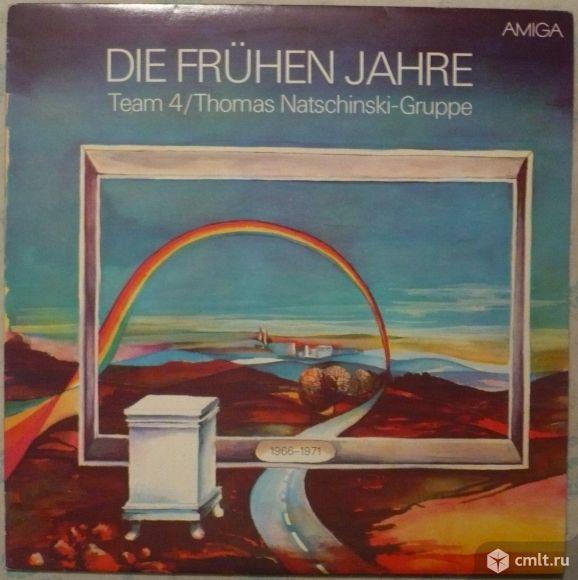 "Грампластинка (винил). Гигант [12"" LP]. Team 4/Thomas Natschinski-Gruppe. Die Fruehen Jahre. ГДР.. Фото 1."
