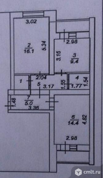2-комнатная квартира 57,2 кв.м
