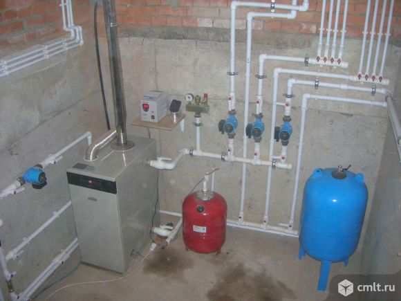 Отопление аккуратно смонтируем, водопровод, канализация