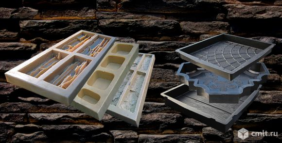 Формы резиновые для изготовления искусственного камня и тротуарной плитки садовая дорожка