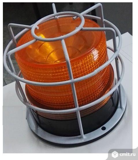 Маячок оранжевый 220в, лампа сигнальная