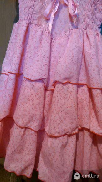 Платья нарядные белое и розовое