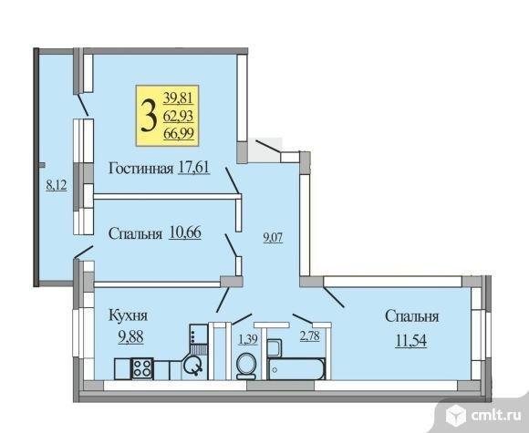Черновая и 100% отделка на выбор. Отделка от застройщика: полы ламинат, современный натяжной потолок, в санузле (вся сантехника, керамическая плитка), межкомнатные двери.