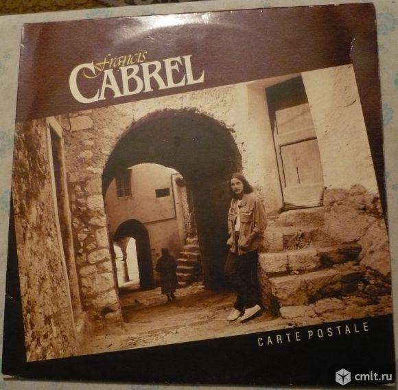 "Грампластинка (винил). Гигант [12"" LP]. Francis Cabrel. Carte Postale. (P)(C) 1981 CBS Disques.. Фото 1."