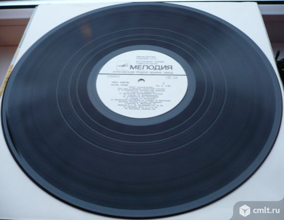 """Грампластинка (винил). Гигант [12"""" LP]. Детская хоровая студия """"Пионерия"""" (Москва). Запись 1973 г.. Фото 8."""