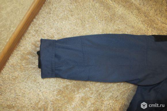 Продам военную куртку синюю на синтепоне в хорошем состоянии. Размер 48-50, рост 170 см. Фото 8.