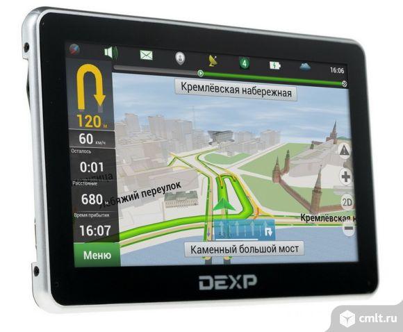 Как новый, гарантия GPS навигатор DEXP Auriga DS500. Фото 1.