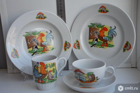 Набор посуды детский Школа 5 пр. Дулево. Новый