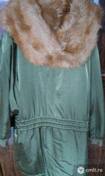 Демисезонная куртка с капюшоном, р.50-54. Фото 5.