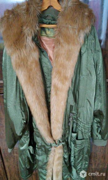 Демисезонная куртка с капюшоном, р.50-54. Фото 1.
