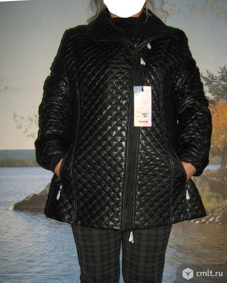 Куртка из искусственной кожи стеганая. Фото 1.