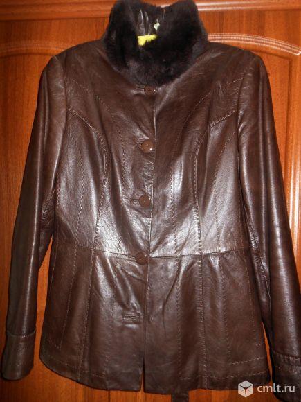 Продам женскую кожаную куртку.. Фото 1.