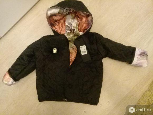 Продам детскую куртку на девочку демисезонную. Фото 1.